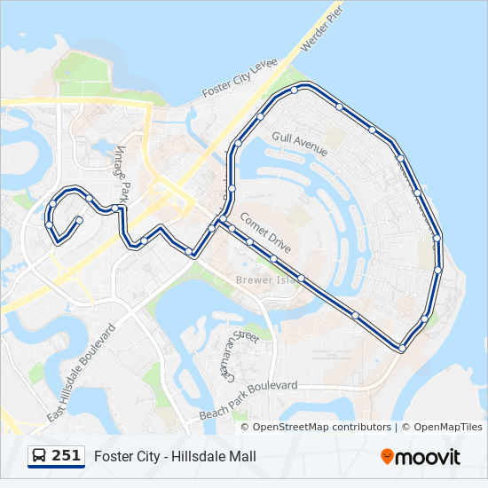 251 Route: Time Schedules, Stops & Maps - Foster City