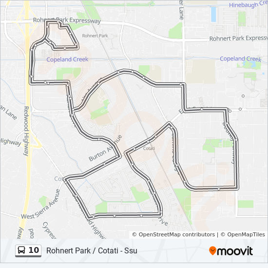 10 Route: Time Schedules, Stops & Maps - Rohnert Park ...