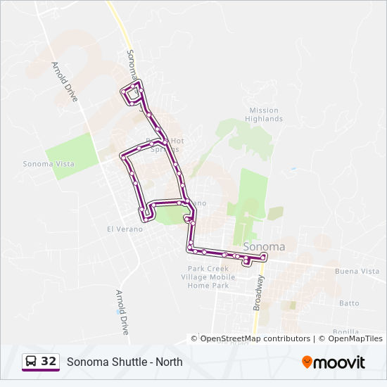 Sonoma Valley California Map.32 Route Time Schedules Stops Maps Sonoma Shuttle North