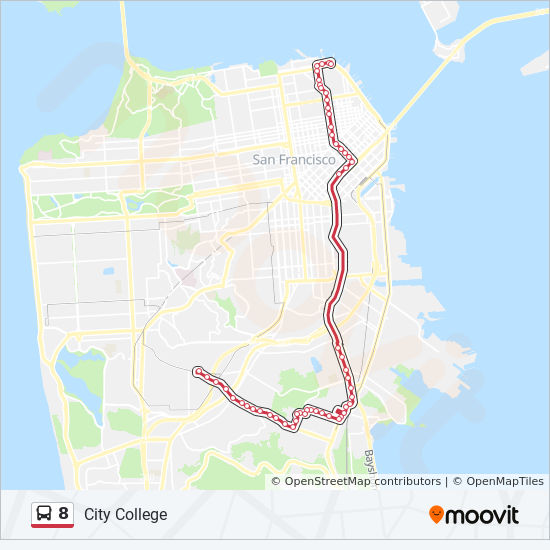 8 Route: Time Schedules, Stops & Maps - City College on