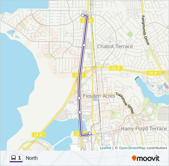 1 Route: Time Schedules, Stops & Maps - Northbound