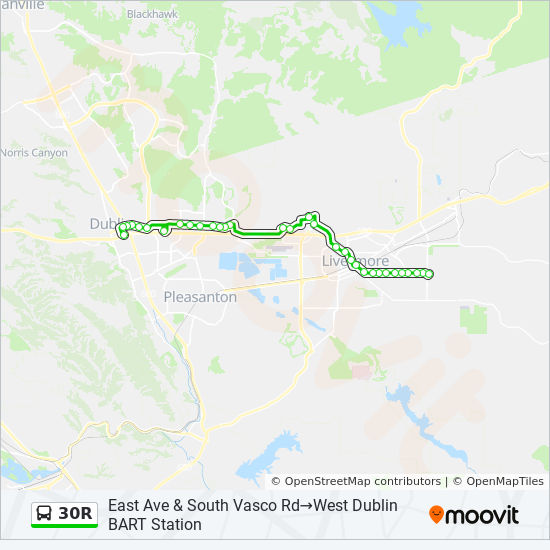 30r Route Time Schedules Stops Maps East Ave South Vasco Rd
