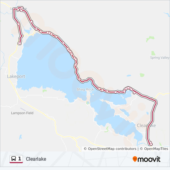1 Route Time Schedules Stops Maps Lakeport