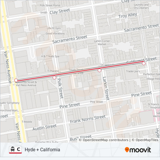 C Route Time Schedules Stops Maps Van Ness California