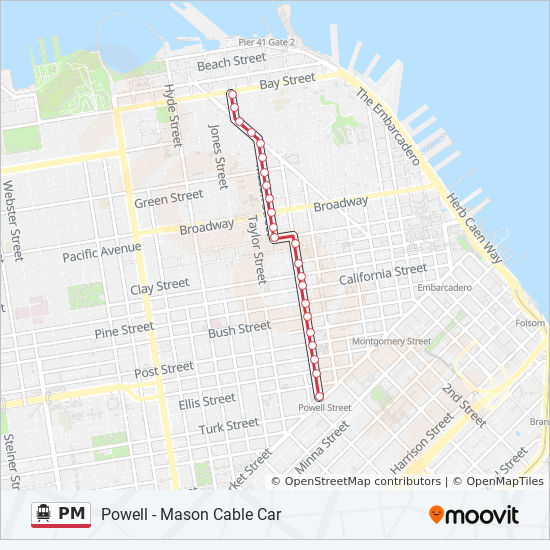 PM Route: Time Schedules, Stops & Maps - Bay + Taylor on transamerica pyramid, san francisco bay, golden gate, powell street cable car map, golden gate park, cable car route map, palace of fine arts, market street, california cable car map, new orleans cable car map, emirates london cable car map, russian hill cable car map, los angeles map, golden gate bridge, muni cable car map, pier 39 map, coit tower, cable car stop map, alcatraz island map, fisherman's wharf, lisbon cable car map, sf map, san francisco city hall, zermatt cable car map, ghirardelli square, twin peaks, union square, lombard street, trans-siberian railroad map, lombard street map, 49-mile scenic drive, presidio of san francisco, san francisco muni, chicago cable cars map, alcatraz island,