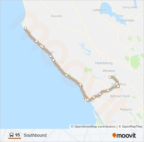 95 Route: Time Schedules, Stops & Maps - Santa Rosa (Southbound) on mountain ranch map, orange coast map, santa cruz, sandia map, guy fieri, santa clara, willow canyon map, downieville map, bay area map, beckley map, rio blanco map, auberry map, san ramon valley map, blue mountain beach map, cochiti map, hacienda map, rincon valley map, san francisco bay area, san rafael, darwin falls map, adjuntas map, hayfork map, rancho murrieta map, izabal map, sonoma county, santa barbara, san luis obispo, port costa map,