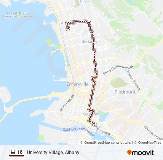 18 Bus Line Map