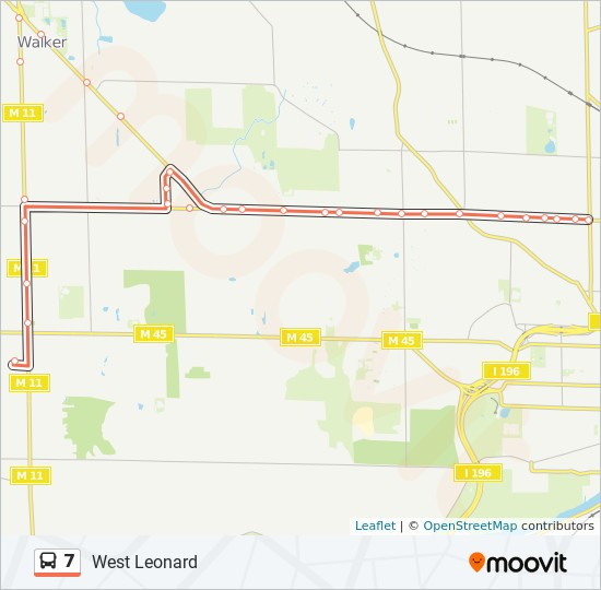 7 Route Time Schedules Stops Maps Standale Meijer