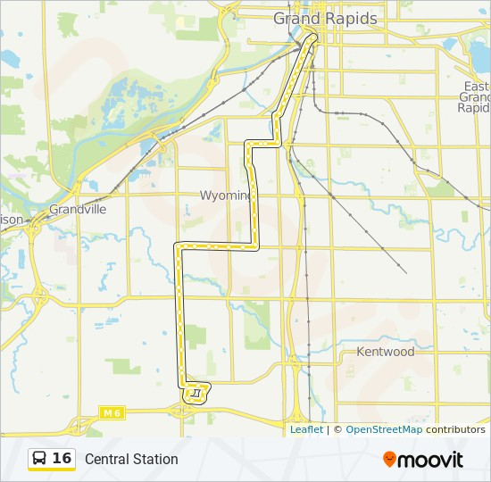 16 Route: Time Schedules, Stops & Maps - Central Station