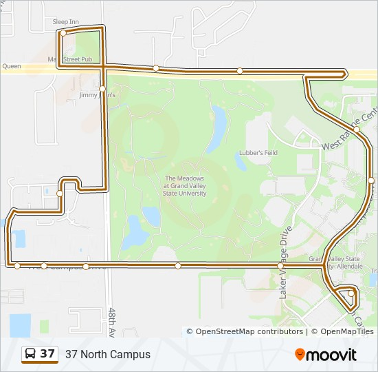 37 Route Time Schedules Stops Maps Gvsu N Campus