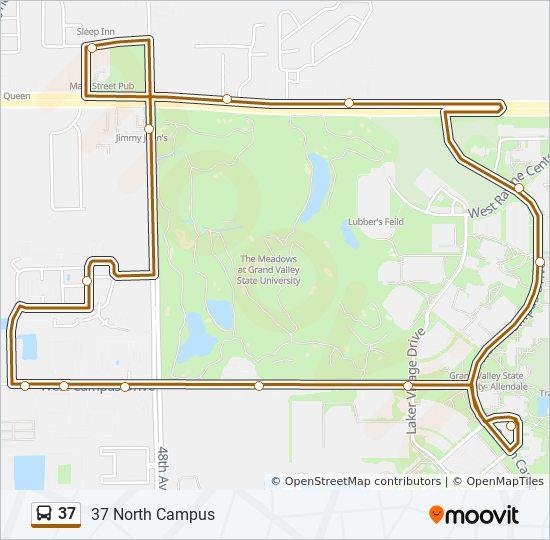 Gvsu Grand Rapids Campus Map.37 Route Time Schedules Stops Maps Gvsu N Campus