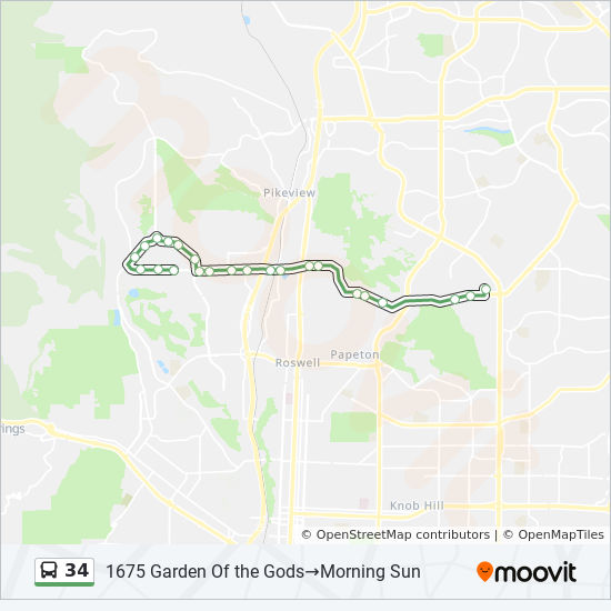 34 Route Time Schedules Stops Maps Morning Sun 1675