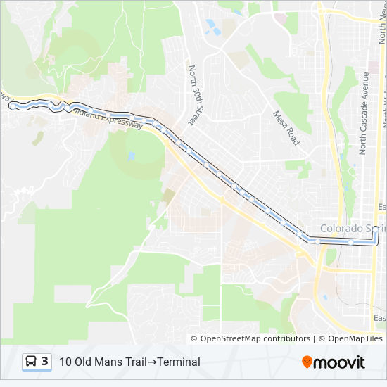 3 Route Time Schedules Stops Maps Terminal 10 Old Mans Trail