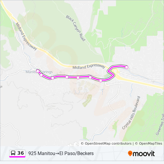 36 Route: Time Schedules, Stops & Maps - El Paso/Beckers ...