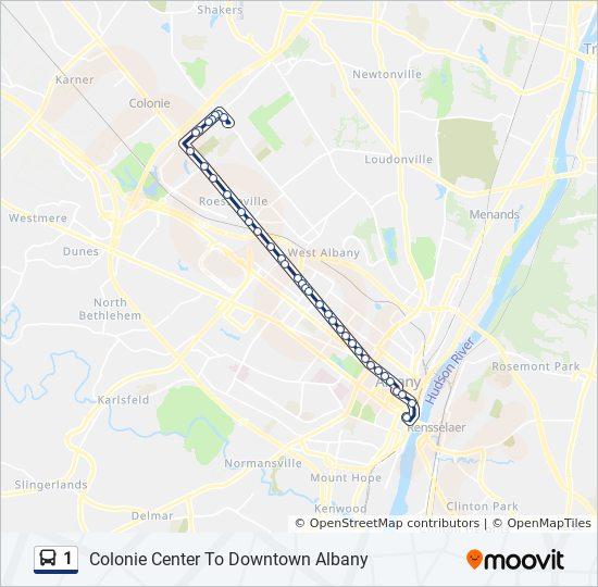 1 Bus Line Map