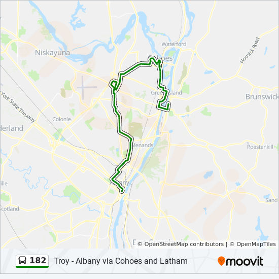 182 Route Time Schedules Stops Amp Maps Albany Troy Via