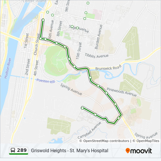 289 Route: Time Schedules, Stops & Maps - Griswold Heigths
