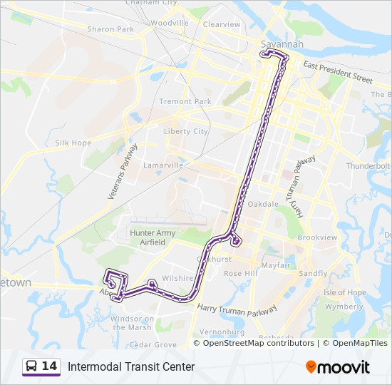 14 Route: Time Schedules, Stops & Maps - Intermodal Transit