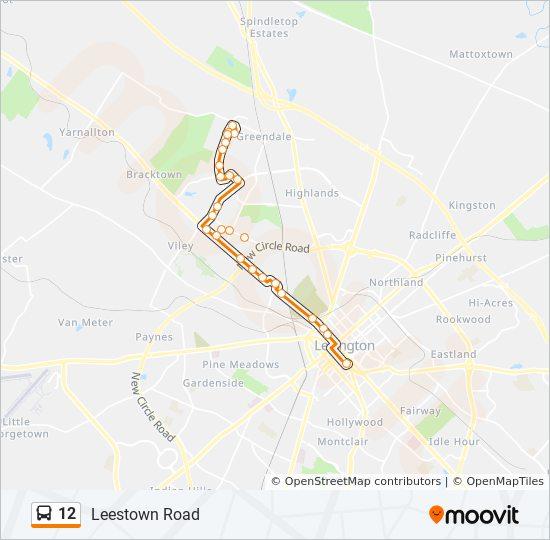 12 Bus Line Map
