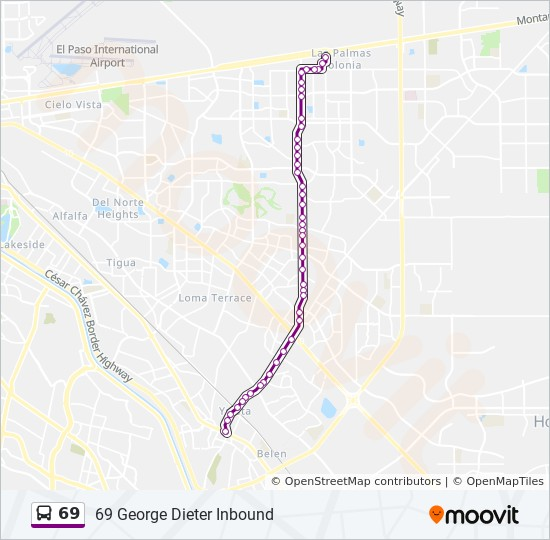 69 Route Time Schedules Stops Amp Maps 69 George Dieter