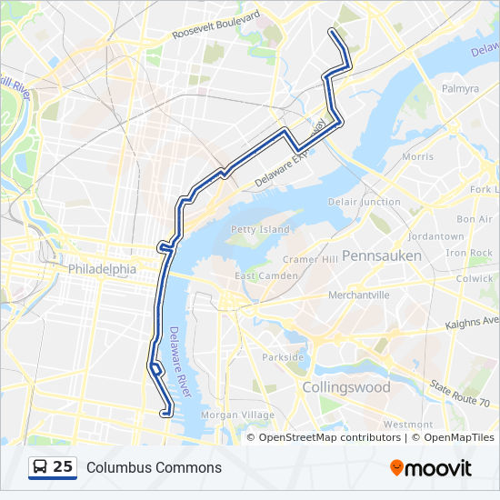 25 Route: Time Schedules, Stops & Maps - Frankford ... on james cook route map, magellan route map, world map, henry hudson route map, vespucci route map, de soto route map, juan de la cosa route map, hispaniola route map, estevanico route map, pedro cabral route map, columbus exploration map, columbus trade map, columbus travel route map, juan rodríguez cabrillo route map, mt. shasta route map, africa route map, old panama canal map, vasco da gama route map, henry the navigator route map, triangular trade worksheet color map,