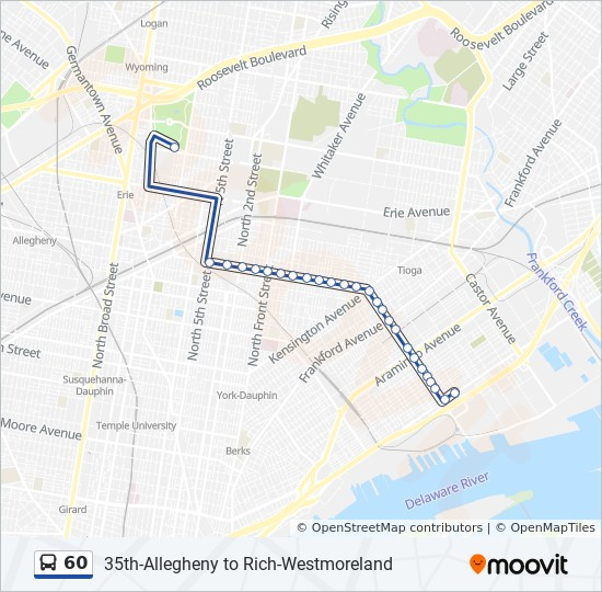 60 Route: Time Schedules, Stops & Maps - 26th-Allegheny