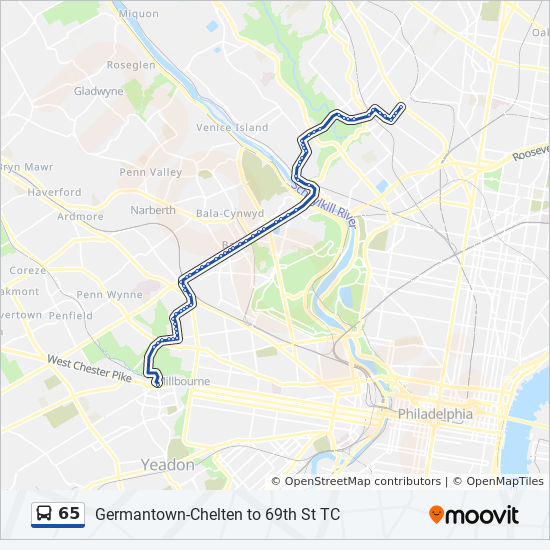 65 Route Time Schedules Stops Amp Maps Germantown Chelten