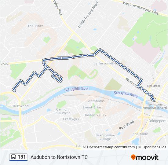 131 Route: Time Schedules, Stops & Maps - Audubon