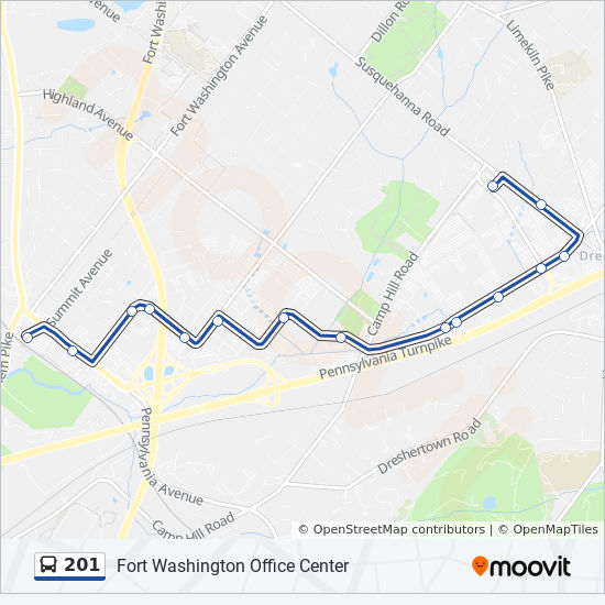 Fort Washington Map.201 Route Time Schedules Stops Maps Fort Washington Station