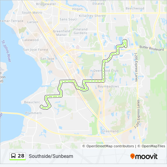 28 Route Time Schedules Stops Maps