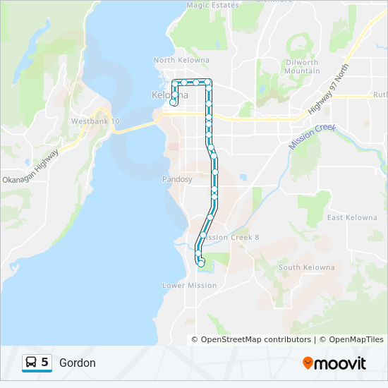 Map Of Canada Showing Kelowna.5 Route Time Schedules Stops Maps Downtown