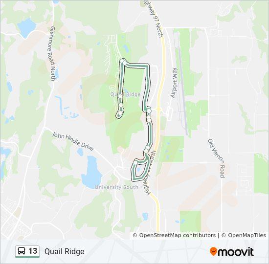 13 Route: Time Schedules, Stops & Maps - Quail Ridge