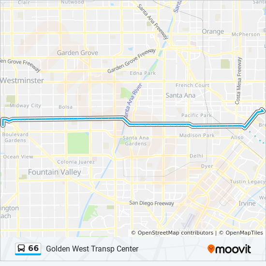 66 Route: Time Schedules, Stops & Maps - Golden West Transp Center