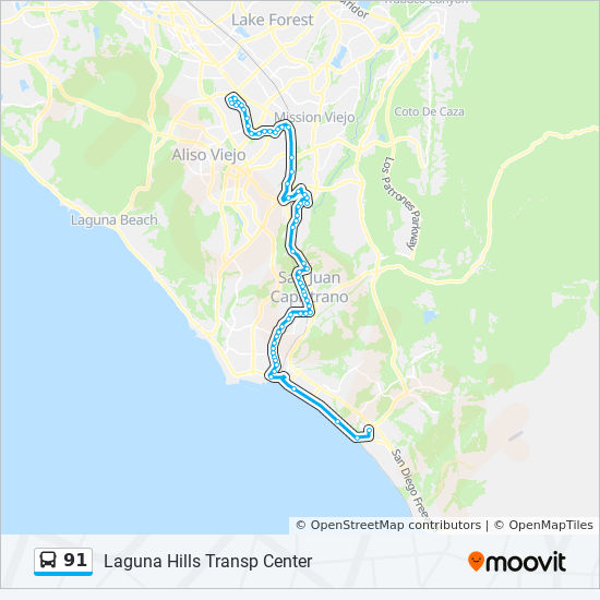91 Route Time Schedules Stops Amp Maps Laguna Hills