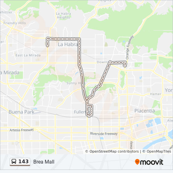 143 Route: Time Schedules, Stops & Maps - Brea Mall