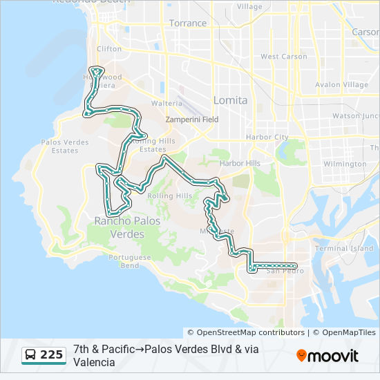 225 Route: Time Schedules, Stops & Maps - Palos Verdes at ...