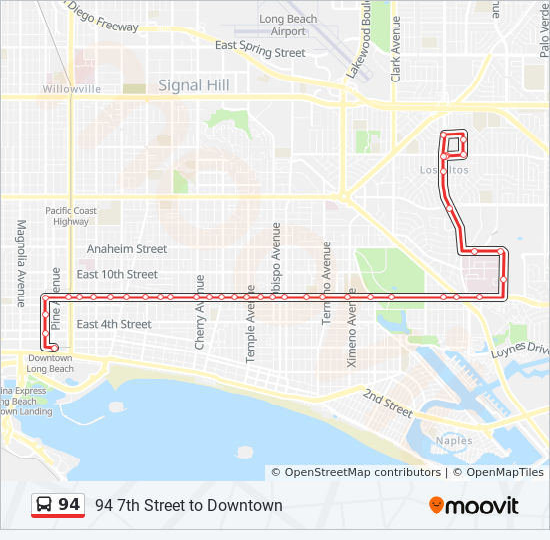 94 Route Time Schedules Stops Maps Los Altos