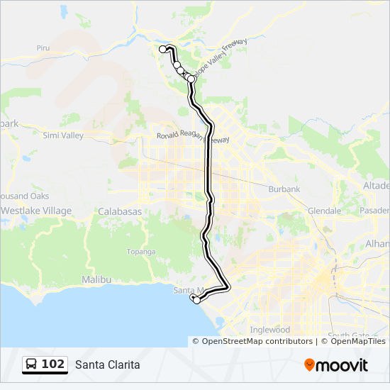 102 Route: Time Schedules, Stops & Maps - Santa Monica