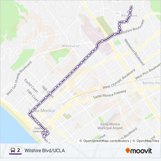 2 Route: Time Schedules, Stops & Maps - Ucla
