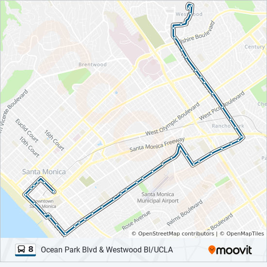 8 Route: Time Schedules, Stops & Maps