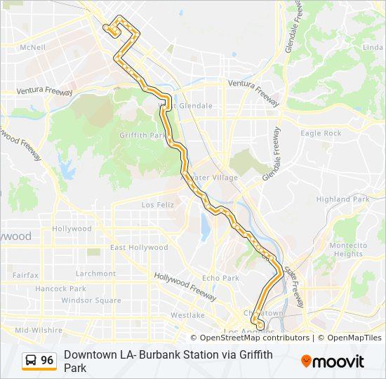 96 Route Time Schedules Stops Amp Maps Dwtn La Grand