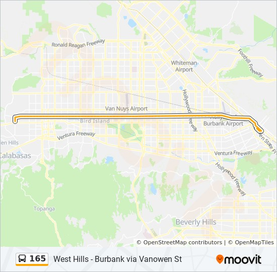 165 Route Time Schedules Stops Amp Maps Burbank Sta