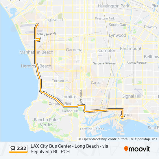 232 Route Time Schedules Stops Amp Maps Dwtn Long Beach