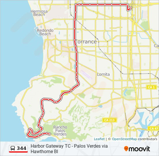 344 Route Time Schedules Stops Amp Maps Harbor Gateway