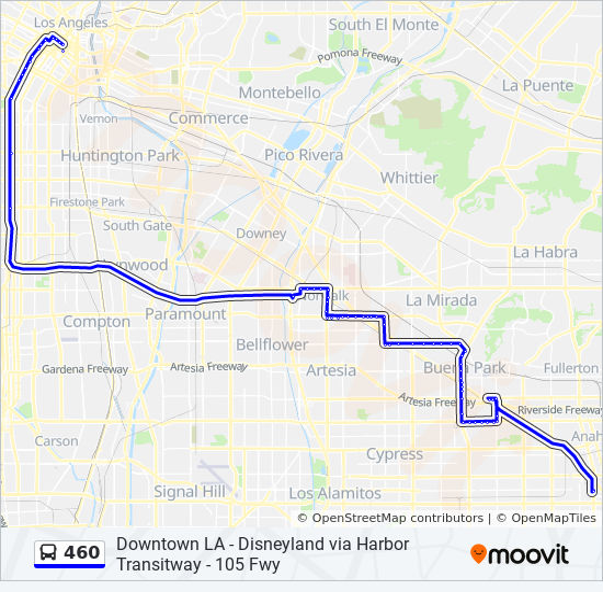 460 Route Time Schedules Stops Amp Maps Dwtn La 6th