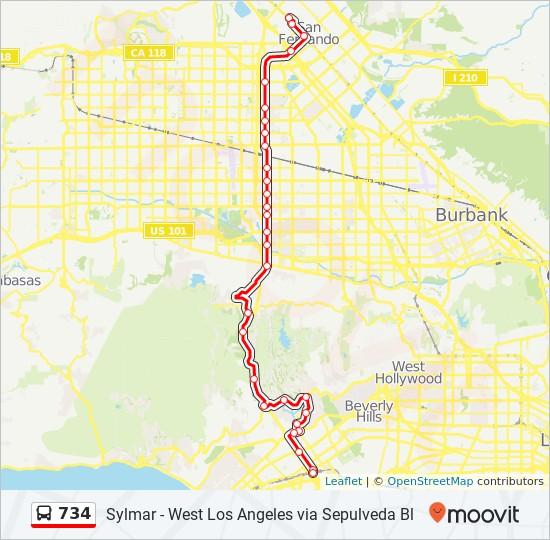 734 Route: Time Schedules, Stops & Maps - Sepulveda Expo Line Sta. on