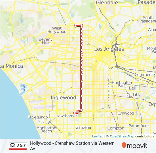757 Route Time Schedules Stops Amp Maps Crenshaw Green