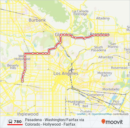 780 Route: Time Schedules, Stops & Maps - Pasadena City College