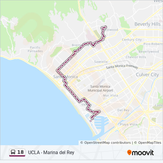 18 Route: Time Schedules, Stops & Maps - Ucla