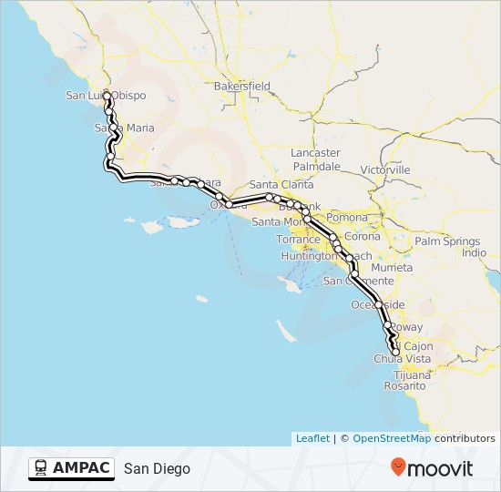 AMPAC Route: Time Schedules, Stops & Maps   San Diego
